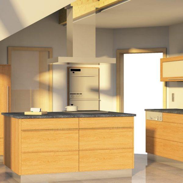 Die Küche ist genauso geworden wie wir es uns vorgestellt hatten.
