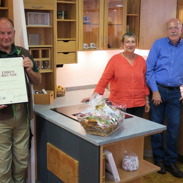 40-jähriges Betriebsjubiläum von Herrn Armin Sondermann bei der HENCHE Möbelwerkstätte in Löhnberg-Obershausen